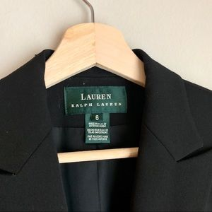 Lauren Ralph Lauren Jackets & Coats - Lauren Ralph Lauren Black Button Up Blazer Jacket